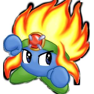 Kirby Art - KCCh- Burning Leo - KRR Gallery