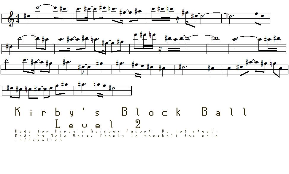 All Music Chords anime sheet music : Kirby's Rainbow Resort